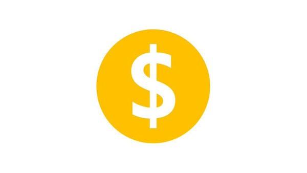 Желтый значок монетизации ютуб